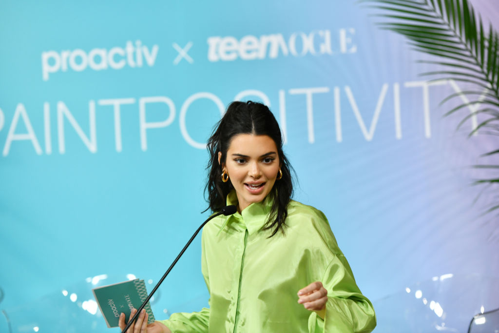 """Kendall Jenner Joins Proactiv And Teen Vogue At """"Paint Positivity: Because Words Matter"""" Event In NYC On June 20th"""
