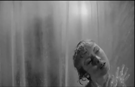 Marion Crane Showering in 1960's 'Psycho,' Not suspecting that it is the final thing she will ever do