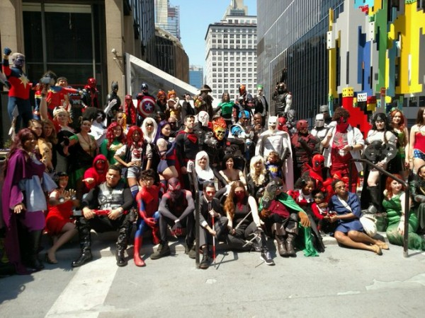 A Group Picture of Cosplayers from Big Apple Comic Con 2018