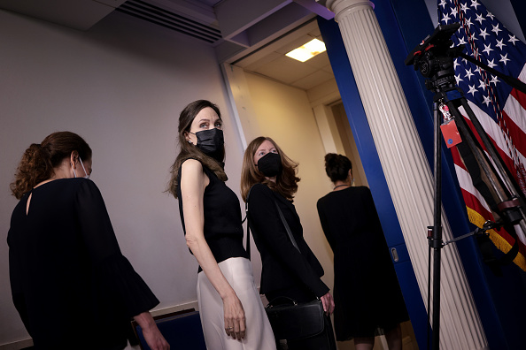 Angelina Jolie Meets With White House Officials On Reauthorization Of Violence Against Women Act