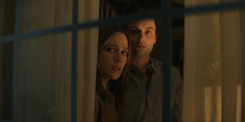 You season 3 Joe and Love stare out window