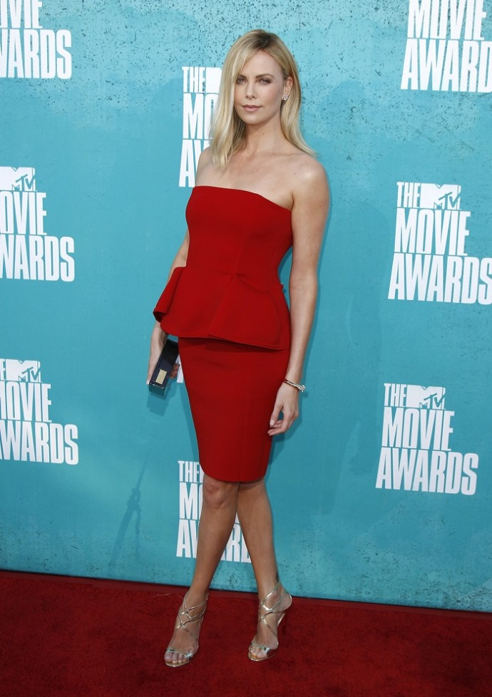 Actress Claire Julien arrives at the 2013 MTV Movie Awards