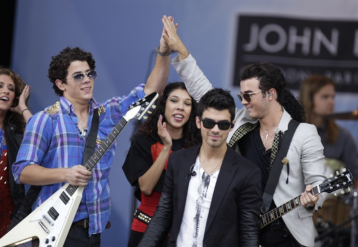 """The Jonas brothers made the announcement on Ryan Seacrest's radio station this morning. """"It's going to be a celebration to be back on the stage together and kind of a party with our fans!"""" Nick told S"""