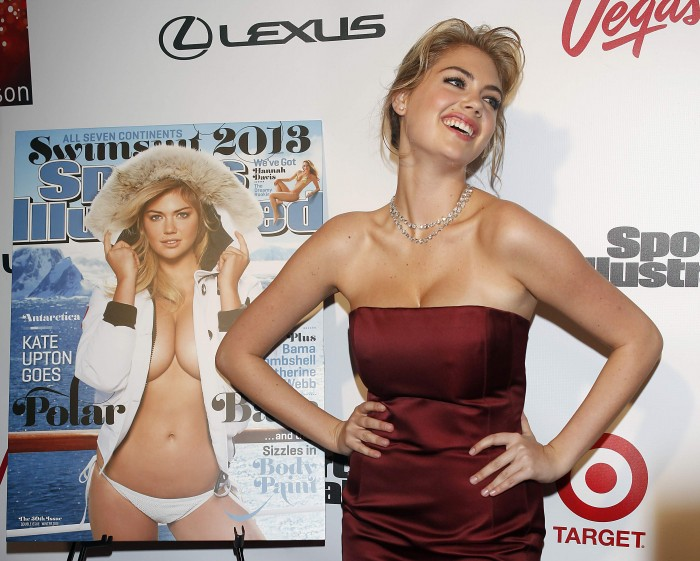 Kate Upton Shows Off Cleavage At Sports Illustrated Party