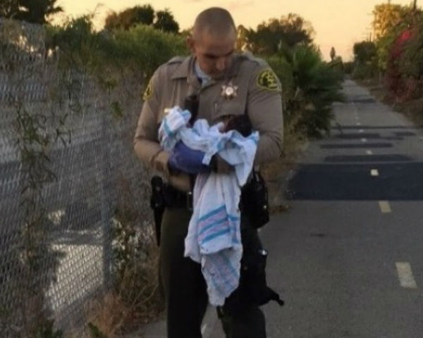 Newborn baby rescued