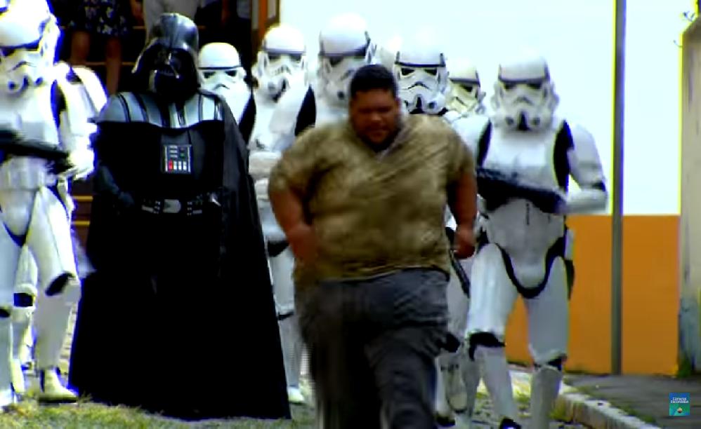 Star Wars Stormtrooper Prank