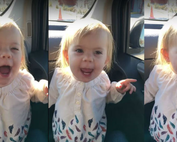 2-Year-Old Singing 'Hello'