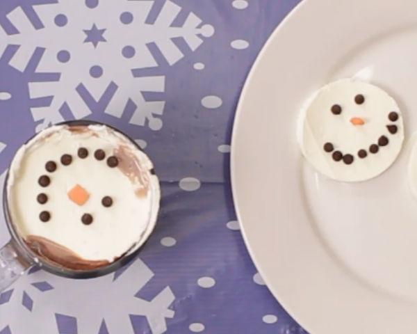 Whipped Cream Snowmen Tutorial