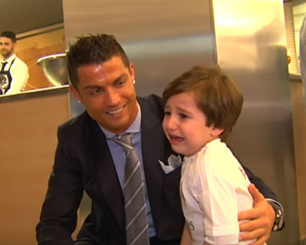 Cristiano Ronaldo meets Lebanese orphan Haidar